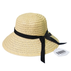 New Portable Women Wide Brim Beach Sun Hat Straw Floppy Bow Elegant Holiday HOT