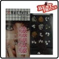 New packaged 1pcs Foils in Print Design Nail Art Foil Stickers