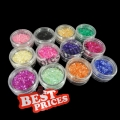 12 Color Glitter Crushed Shell Nail Art Powder Decoration Tips