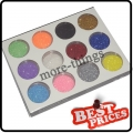 12pcs Color Glitter Powder Dust Nail Art Tip Decoration