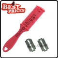 Pink Home Use Bangs Hair Comb Trimmer Barber Tool With 2 Blades