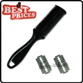 Black Home Use Bangs Hair Comb Trimmer Barber Tool With 2 Blades