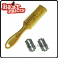 Yellow Home Use Bangs Hair Comb Trimmer Barber Tool With 2 Blades