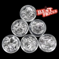 6x Silver S056-6  Foil DIY Nail Art Acrylic Tips Makeup *