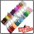 S089 20 color nail art glitter sheets acylic tips DIY