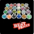 S117 24 nail art decoration tips colorful shiny powder