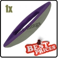 1 x S086 purple nail art leather soft buffer plastic