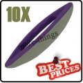 S086 10 nail art leather soft buffer purple plastic