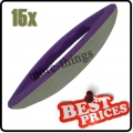 S086 15 nail art leather soft buffer purple plastic