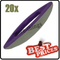 S086 20 nail art leather soft buffer purple plastic