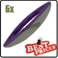 S086 5 nail art leather soft buffer purple plastic
