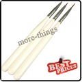 3x Size 1 2 3 SABLE BRUSHES NAIL ART BRUSH for Fine Drawing