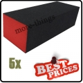 5 x  S019 black nail art sanding block files buffer gel 3-sided