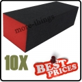 10 x S019 black nail art sanding block files buffer gel  3-sided