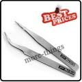 2 Nail Art Tweezers Curved Straight Pointed Makeup S004