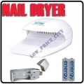 Nail Dryer Blower + 2x AA Rechargeable Battery +USB Charger