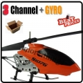 S107G Orange 3 Channel RC Remote Control GYRO Metal Helicopter