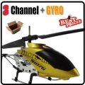 S107G gold w/obox 3CH 3 Channel RC GYRO Metal Helicopter