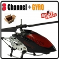 Black S107G 3CH RC Remote Control GYRO Metal Helicopter