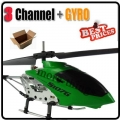 Dark Green S107 107 3CH Remote Control GYRO Metal Helicopter RC
