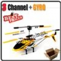 S107G Yellow 3 Channel 3CH Remote Control RC GYRO Metal Helicopter
