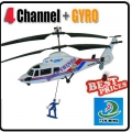 DH827A 4.5 channel Gyro Telescopic Rope Omni-Directional Control Police Helicopter