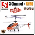 Double Horse 9098 Orange 3.5 Channel  RC Remote Control Gyro Helicopter