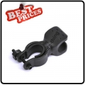 Black Rubber Bicycle 360° Clamp Holder Clip Mount For Flashlight
