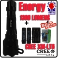 CREE XM-L T6 LED Flashlight + 2x 18650 Energy battery + charger