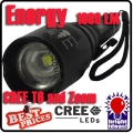 CREE XM-L T6 LED Flashlight Zoomable Torch Z6 Energy