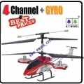 GT8008 Red 4 Channel GYRO Metal Radio Control RC RTF Helicopter 33cm Avatar