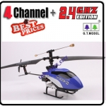 9009 Blue 2.4G 4 Channel GYRO Metal Radio Control RC Helicopter