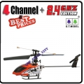 9009 Red 2.4G 4 Channel GYRO Metal Radio Control Helicopter