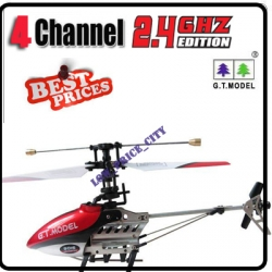 9016 Red 2.4G 4 Channel GYRO Metal Mini Radio Control RC Helicopter