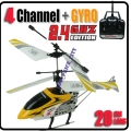 HCW-536 Yellow Sky Star 4 CH GYRO Metal Radio Control Helicopter 2.4G
