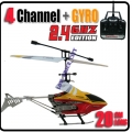 HCW-537 Yellow Star 4 CH GYRO Metal Radio Control Helicopter 2.4G *