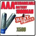 500 x AAA 1.2V Ni-MH Rechargeable battery 3A BTY Cell for MP3 RC Toys