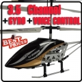 6875-2 Black 3.5 CH Infrared Remote/English Voice Control Helicopter Gyro