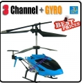 Blue 3.5 Channel GYRO Metal RC16cm Helicopter + USB cable + Blade