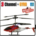 Red 3.5 Channel GYRO Metal RC16cm Helicopter + USB cable + Blade*