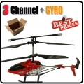 829 Metal Power Fly RC 3 Channel GYRO Red Helicopter+USB cable+Blade