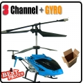 829 Metal Power Fly RC 3 Channel GYRO Blue Helicopter+USB cable+Blade