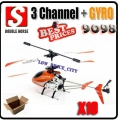 10 x Double Horse 9098 Orange 3.5 Channel  RC Remote Control Gyro Helicopter*