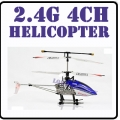 5888 Blue2.4GHz 4CH Mini Flier Alloy RC Helicopter GYRO