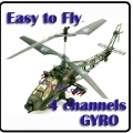 4-Channel 678-4 Gyro RC Helicopter AH-64 Apache 400mm