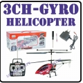 Red GYRO 2 Speed Copter Metallic Body 3-CH RC Helicopter*