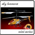Yellow RC Mini Sky Lanneret 3.5CH Metal Frame Gyro Helicopter*