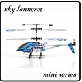 Blue RC Mini Sky Lanneret 3.5CH Metal Frame Gyro Helicopter