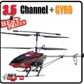 "Red 30"" Big 3.5 Channel Metal King-X 545 Helicopter + 8 AA battery +Charger"