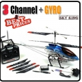 Blue 36 inch GYRO 8501 Metal 3.5-Channel RC Helicopter 91cm*